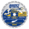 Irwin Weldtec Circular Saw Blades, 24 Teeth IRW 585-24035