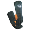 safety zone leather gloves: Caiman - Heatflect Welding Gloves, Cow Split Leather, One Size, Black/Orange