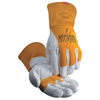 Caiman MIG/Multi-Task Welding Gloves, Cow Grain Leather/Pigskin, Large, White/Tan ORS 607-1810-L