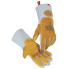 Caiman Revolution Welding Gloves, Pig Grain Leather, Large, White/Gold ORS 607-1812-L
