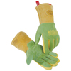 safety zone leather gloves: Caiman - Revolution Welding Gloves, American Deerskin Leather, Large, Green/Gold