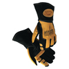 Caiman Revolution Stick/Mig Deerskin Welding Gloves, Large, Black/Gold ORS 607-1830-L