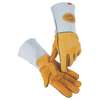 Caiman Kontour Welding Gloves, American Elk Grain Leather, Large, White/Brown ORS 607-1858-L