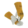 Caiman Revolution Welding Gloves, Goat Grain Leather, Small, White/Gold ORS 607-1868-S