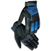Caiman M.A.G. Rhino-Tex Synthetic Leather Gloves, Large, Black/Blue ORS 607-2950-L