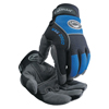 Caiman Synthetic Leather Palm Gloves, Medium, Blue/Black ORS 607-2950-M