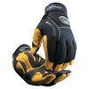 Caiman Gold Grain Leather Palm Gloves, X-Large, Gold/Black ORS 607-2956-XL