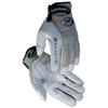 safety zone leather gloves: Caiman - M.A.G. Gray Genuine American Deerskin Mechanics Glove, X-Large, Gray/Black