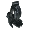 safety zone leather gloves: Caiman - Black Deer Grain Leather Palm Gloves, Large, Black/Gray