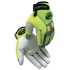 safety zone leather gloves: Caiman - White Goat Grain Leather Multi-Activity Gloves