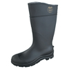 Servus CT™ Economy Knee Boots, Steel Toe, Size 11, 16 In H, PVC, Black SRV 617-18821-BLM-110