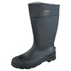 Servus CT™ Economy Knee Boots, Steel Toe, Size 12, 16 In H, PVC, Black SRV 617-18821-BLM-120