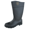 Servus CT™ Economy Knee Boots, Steel Toe, Size 8, 16 In H, PVC, Black SRV 617-18821-BLM-080
