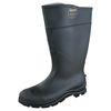 Servus CT™ Economy Knee Boots, Steel Toe, Size 9, 16 In H, PVC, Black SRV 617-18821-BLM-090