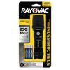aaa batteries: Rayovac - Indestructible Series Flashlight, 3 Aaa, 20 To 250 Lumens, Black