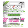 Rechargeable Batteries: Rayovac - Platinum Pre-Charged Rechargeable Batteries, Nimh, Aa, 4 Per Pack