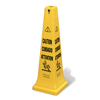Rubbermaid Commercial Multilingual Caution Cone RCP 6276 YEL
