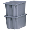 Rubbermaid Commercial Stack & Nest Palletote® Boxes RCP 640-1721-GRAY