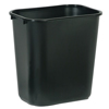 waste basket: Rubbermaid Commercial - Deskside Wastebaskets, 28 1/8 Qt, Plastic, Black