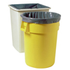 Rubbermaid Commercial Linear Low Density Can Liners, 55 Gal, 39.5 X 48, Gray RCP 640-5011-88-GRAY