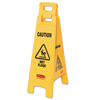 Rubbermaid Commercial Floor Safety Signs, Caution Wet Floor, Yellow, 25X11 RCP 640-6112-77-YEL