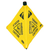 Rubbermaid Commercial Floor Pop-Up Safety Cones, Caution (Multi-Lingual)/Wet Floor Symbol, Yellow, 20 RCP 640-9S00