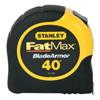 Measuring & Leveling Tools: Stanley-Bostitch - Fatmax Reinforced W/Blade Armor Tape Rules, 1 1/4 In X 40 Ft, Belt Clip