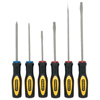 Stanley-Bostitch Standard Fluted Screwdriver Sets, 6 Piece, Phillips; Slotted; Cabinet BOS 680-60-060