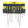 Stanley-Bostitch 10 Piece Standard Fluted Screwdriver Sets BOS 60100