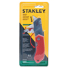 Stanley-Bostitch Folding Pocket Safety Knives,4.312 In,Folding Steel Blade,Bi-Material,Gray;Red BOS 680-STHT10243