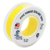 Technetics Thread Seal Tapes, 260 In L X 1/2 In W, Yellow ORS 725-1/2X260-YELL