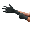 hand protection: Ansell - Onyx Disposable Gloves, Nitrile, Finger - 13 mm; Palm - 9 mm, X-Large, Black