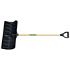 Union Tools - Poly Snow Pusher, 4 1/4 In X 24 In Blade, Wood D-Grip Handle, Black