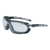 eye protection: Honeywell - Uvex™ Tirade Sealed Eyewear, Clear Polycarbonate Uvextra Af Lenses, Blk/Gray Tpr Frame
