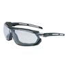Honeywell Uvex™ Tirade Sealed Eyewear, Clear Polycarbonate Uvextra Af Lenses, Blk/Gray Tpr Frame FND 763-S4040