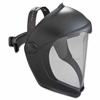 Honeywell Uvex® Bionic Black Matte Faceshield Clear PC Lens ORS 763-S8510