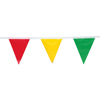 Presco Pennant Flags, 9 In X 12 In, 100 Ft Long, Polyethylene, Multi-Color, 50 Per Case PRS 764-PF912100M