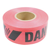 Traffic Safety Safety Tapes: Presco - Reinforced Barricade Tape, 3 In X 500 Ft, Red, Danger/Peligro