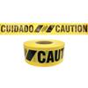 Presco Reinforced Barricade Tape, 3 In X 500 Ft, Yellow, Caution PRS 764-SBR35XY13