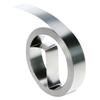 Marking Tools: Dymo - Rhino Embossing Non-Adhesive Steel Tags, 21 Ft X 1/2 In, Metallic Silver