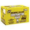Warp Brothers Trash Can Liners With Recycled Plastic, 33 Gal, 2.5 Mil, 33 X 40, Black ORS 795-HB33-60-R