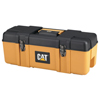 Waterloo Wide Plastic Tool Boxes, 26W X 10.5D X 10H, Plastic, Caterpillar Yellow/Black ORS 797-CAT-P26B-S