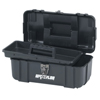 tool storage: Waterloo - Plastic Tool Boxes, 14 In W X 8 In D X 6 1/4 In H, Polypropylene, Black