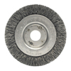 Weiler Narrow Face Crimped Wire Wheel, 3 In D, .0118 Stainless Steel Wire WEI 804-00264