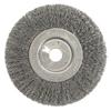 Weiler Narrow Face Crimped Wire Wheel, 6 In D, .0118 Steel Wire WEI 804-01068