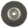Weiler Narrow Face Crimped Wire Wheels, 10 In Dia. X 3/4 In , 0.014 In, Steel, 4,000RPM WEI 804-01250-12