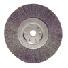 Weiler Narrow Face Crimped Wire Wheel, 6 In D, .0104 Stainless Steel Wire WEI 804-01695