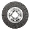 Weiler Medium-Face Crimped Wire Wheel, 10 In D, .0118 Stainless Steel Wire WEI 804-06530