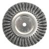 Weiler Standard Twist Knot Wire Wheel, 8 In D, .014 In Steel Fill, 3/4 In Arbor Hole WEI 804-08138