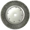 Weiler High Density Twist Knot Wire Wheel, 14 In D, .0118 In Steel, 1-1/4 In Arbor Hole WEI 804-08309